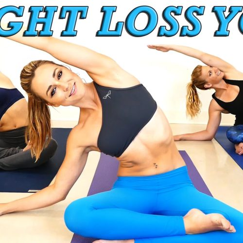 Yoga Weight Loss Challenge! 20 Minute Fat Burning Yoga Workout Beginners & Intermediate